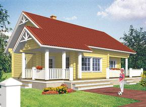 Ökologisches Blockhaus als Einfamilienhaus - Blockhäuser planen - Hausbau - bezugsfertig - Einfamilienhäuser bauen - Typenhaus - Architektenhaus - Holzhäuser in Blockbauweise -  Ökologisch Bauen - Holzbau
