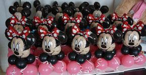 Micky Maus Minnie Mickey Mouse Micky Minny Ballon Luftballon Männchen Figur Kopf Geschenk Deko Dekoration Mitbringsel Geburtstag Mädchen Junge Überraschung Kindergeburtstag Feier