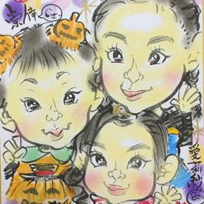 茨城県のパンダ似顔絵師