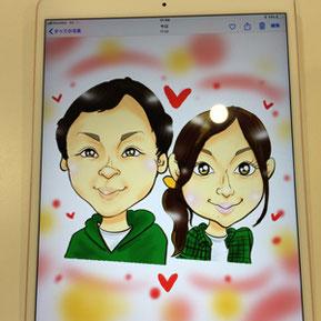 iPadでデジタル似顔絵