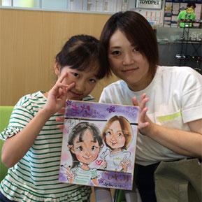 千葉県の笑顔の似顔絵