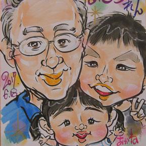 埼玉で似顔絵師がイベント