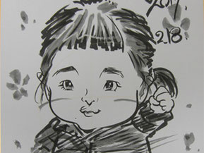 千葉県船橋市へ似顔絵師が出張