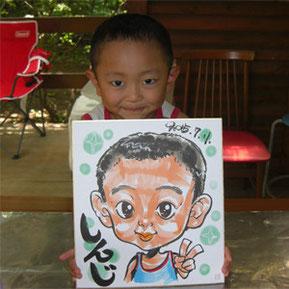 似顔絵師が千葉県市川市へ