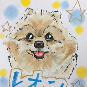犬、猫の似顔絵を描く
