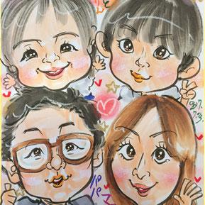 栃木県へ似顔絵師が出張