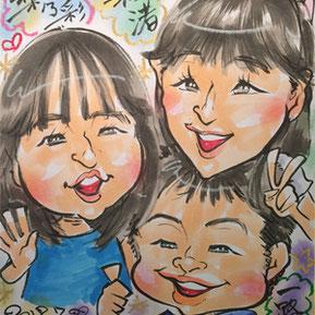 似顔絵イベント-栃木県小山市