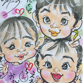 千葉県へ似顔絵師