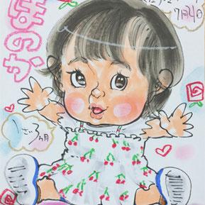 千葉県イベントでかわいい似顔絵