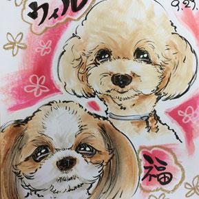 埼玉県熊谷市のドッグフェス似顔絵