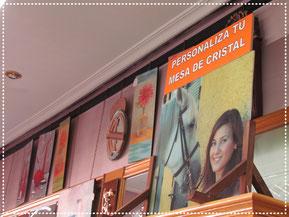 tapas de mesa personalizadas en Cristalería García Tarín