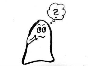 Glockenmännchen mit einem Fragezeichen. Zeichnung von Claudia Pichler Mediation Salzburg