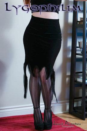 Halloween, jupe, gothique, noir, fête, vêtements