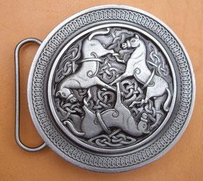 Boucle chevaux celtiques