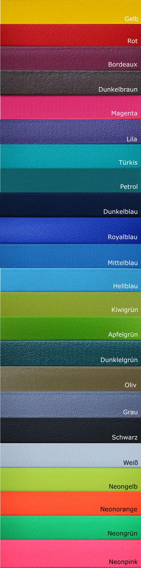 BioThane® Farbübersicht