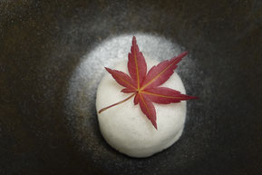 Dried edible Japanese maple leaf