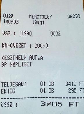 Билет на автобус из Кестхея в Будапешт