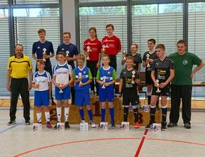 Siegerehrung HW-Pokal U15 - RVL Teams rechts
