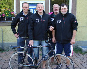 Die Gründungsmitglieder der Radballabteilung 1985