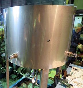 小型タンク 径1000mm x 高さ740mm(材質:SUS)