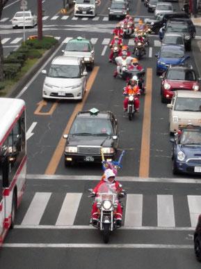 (19)大津通りを駆け抜けます。