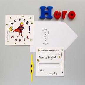 Papeterie, invitations anniversaire, papier cadeau anniversaire garçon- boy party invitations