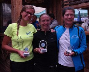 2. Tanja Pancheri ITA, 1. Nicole Gaube GER, 3. Monika Lenhardt AUT