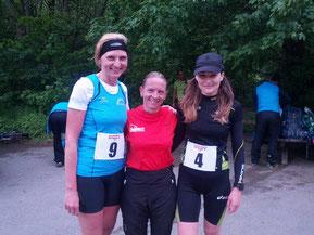 Damen/Woman: 2.Karin Prusa AUT, 1.Nicole Gaube GER, 3.Renate Telser ITA