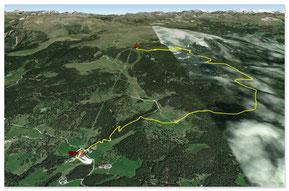Strecke Ritten - 6,6km 550hm