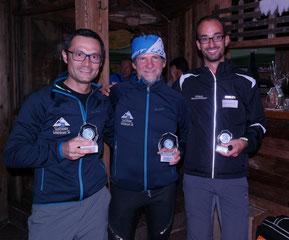 2. Andreas Santini ITA, 1. Martin Larch ITA, 3. Manuel Dalla Torre ITA