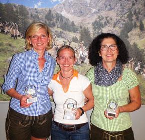 Gesamt Damen: 2. Karin Prusa AUT, 1. Nicole Gaube GER, 3.  Monika Lenhardt AUT