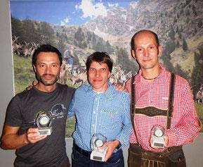 Gesamt Herren: 2. Andreas Santini ITA, 1. Thomas Göpfert GER, 3. Michael Schleich AUT