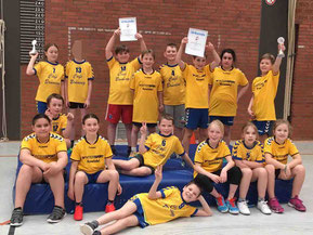 Mattenhanballturnier der 4c in Cadenberge im Schuljahr 2016/2017