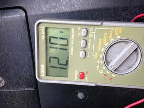 交換前の充電電圧