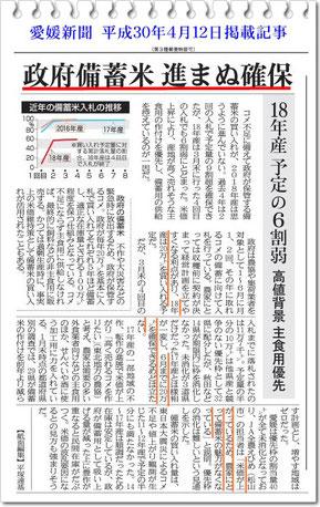 愛媛新聞 2018.4.12 記事より抜粋!