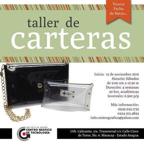 Taller de Carteras - Centro Gráfico de Tecnologia