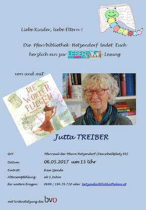 RÜCKBLICK auf die Lesung mit Jutta Treiber