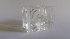Transparentes Kunststoffformteil aus zerspanender Bearbeitung