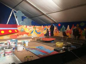 Zeltaufbau/Richtfest