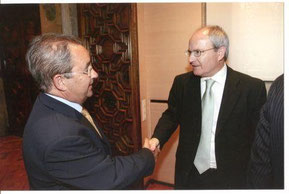 Los presidentes de la Generalitat y de Inter-SOS.