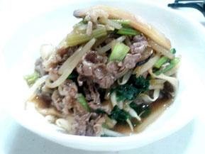 牛肉と野菜たっぷり炒め
