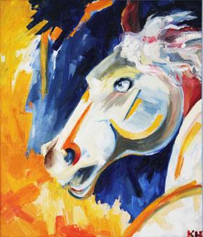 """Kovalenko Nadejda, """"Freiheit"""", Öl auf Leinwand, 70 x 60 cm, 2012, gerahmt, 2.200 €"""
