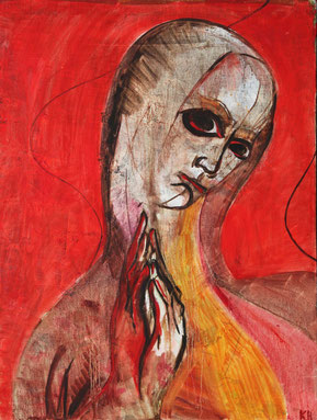 "Kovalenko Nadejda, ""Heiligenbild"", Öl auf Leinwand, 60 x 80 cm, 2012, gerahmt"