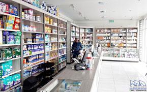 Aparadores para farmacia, vitrinas para farmacia