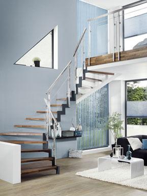 FERRO - Holztreppe mit Metallwangen von BUCHER Treppen