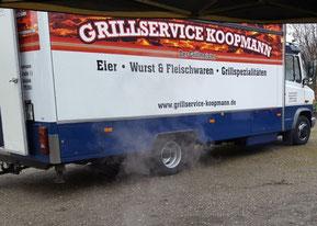 Unser Verkaufswagen Grillservice Koopmann -Grillmeister- Eier, Wurst & Fleischwaren, Grillspezialitäten