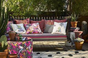 Sitzkissen / Outdoorkissen / Bezugstoffe / Lounges / Garten / Balkone