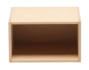KINDGERECHT-Design Kindermöbel aus stapelbaren Fächern