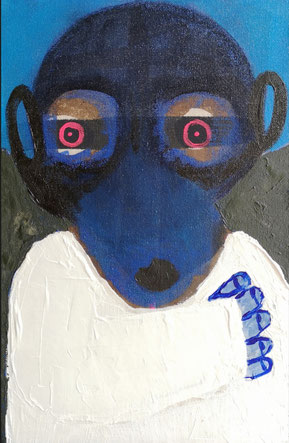 SOLD - 'Looking for Ben' - Oil and acrylic on canvas - 6P (41x27cm) - 2020.