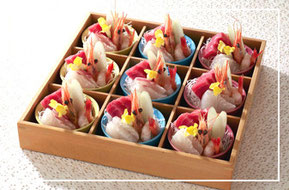 家族葬の刺身小鉢